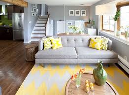 view in gallery gray and yellow living room seems both cozy and contemporary