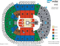 Wwe Live Seating Chart Wwe Live Sap Center