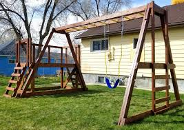 Swing Set Designs Diy Pauls Swingset Free Wooden Swing Set Plan Pauls Playhouses