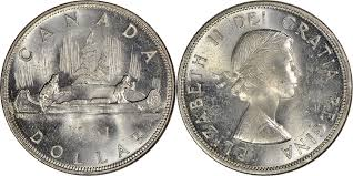 1961 Half Dollar Value Chart Coins And Canada 1 Dollar 1961 Canadian Coins Price
