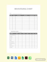Behavior Chart Template Pdf Free Behavioral Chart Template Pdf Word Excel Apple