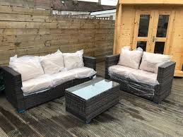 outdoor conservatory garden set seats 5 seater sofa set with table free delivery