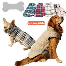waterproof reversible dog jacket designer warm plaid winter dog coats pet clothes elastic small to large dog clothes winter awesome deals