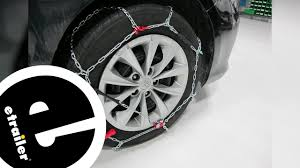 Konig Standard Snow Tire Chains Review - 2016 Toyota Camry ...