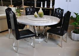 round marble dining table with com lazy susan t 6316 design