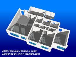 hdb 5 room flat fernvale foliage 3d model and not just hdb floor plans
