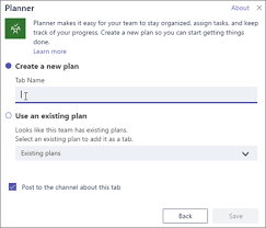 office planner software. Screenshot Of The Planner Tab Dialog Box In Teams Office Planner Software