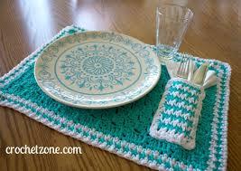Free Crochet Placemat Patterns Unique Free Crochet Pattern For Pocket Placemat Crochet Zone