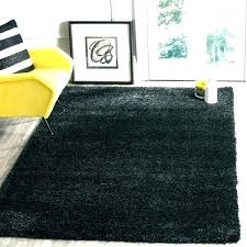 gray and white striped rug post black area