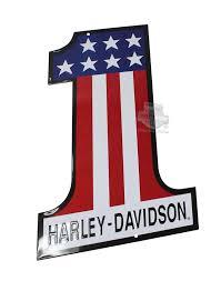 harley davidson 1 cut tin sign