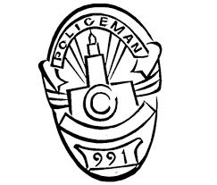 Small Picture Police Badge Coloring Pages For Kids Clip Art Library