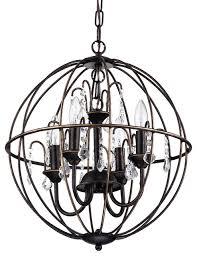 pasadena crystal chandelier antique bronze