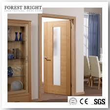 china modern type middle glass insert interior flush wood door china wood door flush wood door