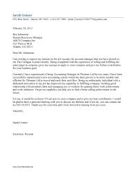 Cover Letter Cover Letter Examples Accounting Cover Letter