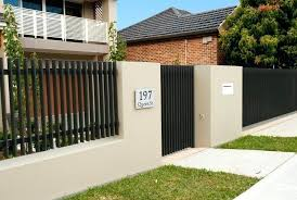 modern metal fence design. Modern Fence Design Designs Metal With Concrete Walls . T