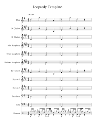 Jeopardy Template Sheet Music For Flute Clarinet Alto