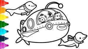Like i said before, now that my kids are getting a little older, i'm having to pay special attention to what those little ones are into! Octonauts Coloring Pages Á´´á´° Submarine And Dolphins Disney Coloring Book Youtube