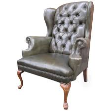 brilliant ideas of queen anne tufted leather wingback chair at 1stdibs awesome queen anne leather wingback chair