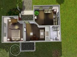 quaint starter features a large bedroom and a smaller bathroom there is an eat in kitchen and small porch on the back it is furnished for 2 sims