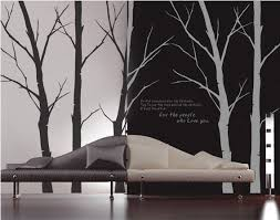 ... For The People Who Love You Winter Tree With Flying Birds Wall Sticker  ...