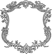 antique frame border. JPG Download \u2013 PNG Vector · Vintage Floral Scroll Border Frame Antique