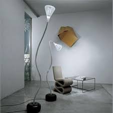 brand new from artemide a modern lamp made of flexible grey painted tubular steel covered by a natural yellowing resistant platinic silicone sheath