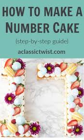 How To Make A Number Cake Easy Step By Step Guide