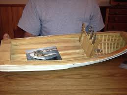 mclean s next project completing a model of boothbay harbor lobster boat
