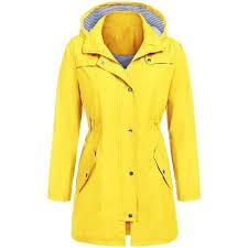 calofe 2018 winter coat women long plus size solid rain jacket outdoor hoo women clothes waterproof