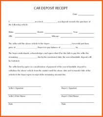 11+ Car Deposit Form - Budget Template Letter