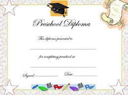 Prek Diploma Free Graduation Certificate Template Preschool Graduation