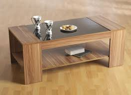 Coffee Table Designs With Glass Top: Wood Coffee Table With Glass