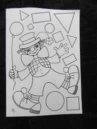 Vormen Clown 2 2 Karneval Pinterest Forme Coloriage Et