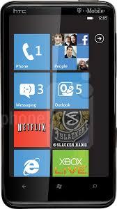 HTC HD7 vs Sharp TM100 - Visual phone ...