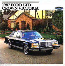 ford crown victoria 1987 ford crown victoria brochure lx country squire