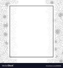 Card Outline Chrysanthemum Outline Banner Card Border Vector Image