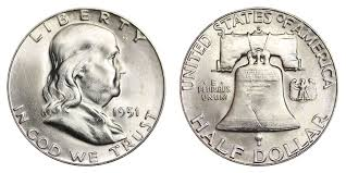 1951 S Franklin Half Dollar Liberty Bell Coin Value Prices