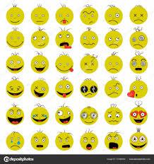 smileys funny funny yep vector vector set stock vector