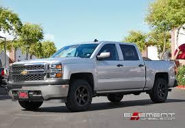 18 inch Fuel Beast Black Machined wheels on 2015 Chevy Silverado ...