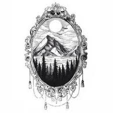 antique mirror frame tattoo. Beautiful Antique Billedresultat For Skeleton In Frame Tattoo Something Like This But With  A Whale Tail Sticking Up From The Water With Antique Mirror Frame Tattoo I