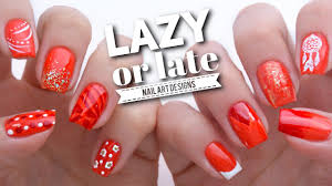 10 Quick Nail Art Ideas If You're LAZY Or LATE! - YouTube