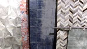 new from capel rugs is leather and hide in the laramie collection at las vegas market