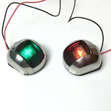 Red Side Light On Boat Buy New Recpro 12v 12 Volt 1 Green 1 Red Led Vertical
