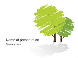 Tree Powerpoint Template Green Trees Powerpoint Template Backgrounds Google Slides Id