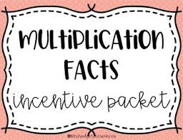 Multiplication Incentive Chart Multiplication Facts Incentive Chart
