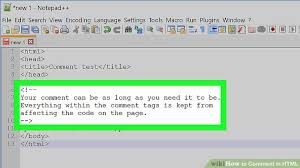 How to Comment in HTML (with Pictures) - wikiHow