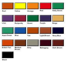 Fiebings Suede Dye Color Chart Fiebings Suede Dye