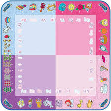 Aquadoodle turns water into color, so you can doodle in red, blue, green, and purple. Amazon Com Aquadoodle Classic Large Water Doodle Mat Official Tomy No Mess Colouring Drawing Game Suitable For Toddlers And Children Boys Girls 18 Months 2 3 4 Year Olds Pink Office Products