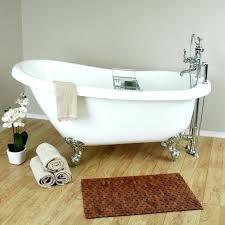 um image for randolph morris 62 inch acrylic slipper clawfoot tub packageshort deep short shower curtain