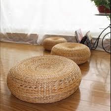 50*20cm Yoga mat,meditation cushions rattan ottoman stool Traditional natural  rattan stool sofa